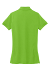 Green Oasis Port Authority Ladies 5-in-1 Performance Pique Polo as seen from the back