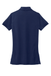 True Navy Port Authority Ladies 5-in-1 Performance Pique Polo as seen from the back
