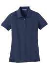 True Navy Port Authority Ladies 5-in-1 Performance Pique Polo as seen from the front