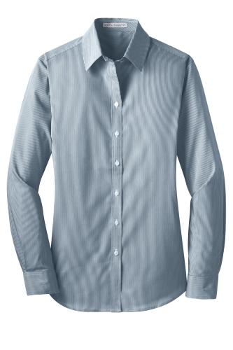 Port Authority Ladies Fine Stripe Stretch Poplin Shirt