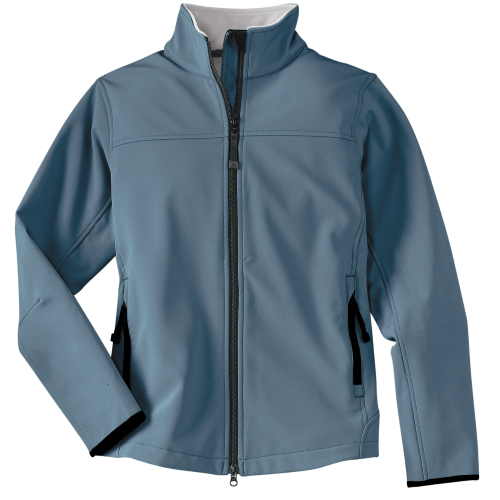 Atlblue Chrome Port Authority Ladies Glacier Soft Shell Jacket as seen from the front