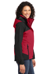 Engine Red Blk Port Authority Ladies Nootka Jacket as seen from the sleeveleft