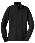 Black Sport-Tek Ladies 1/4-Zip Sweatshirt as seen from the front