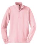 Pink Sport-Tek Ladies 1/4-Zip Sweatshirt as seen from the front
