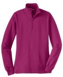 Pink Rush Sport-Tek Ladies 1/4-Zip Sweatshirt as seen from the front