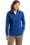 Royal Sport-Tek Ladies 1/4-Zip Sweatshirt as seen from the front