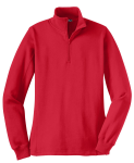 True Red Sport-Tek Ladies 1/4-Zip Sweatshirt as seen from the front