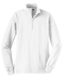 White Sport-Tek Ladies 1/4-Zip Sweatshirt as seen from the front