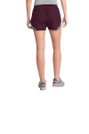 Maroon Wht Blk Sport-Tek Ladies Cadence Short as seen from the back