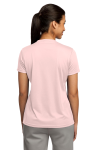 Light Pink Sport-Tek Ladies Competitor Tee as seen from the back