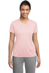 Light Pink Sport-Tek Ladies Competitor Tee as seen from the front