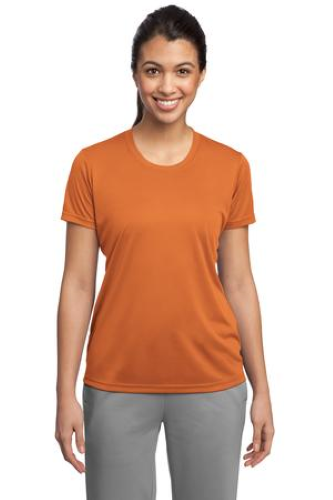 Texas Orange Sport-Tek Ladies Competitor Tee as seen from the front