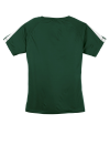 For Grn White Sport-Tek Ladies Colorblock Competitor Tee as seen from the back