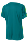 Trop Blue Lime Sport-Tek Ladies Colorblock Competitor Tee as seen from the back