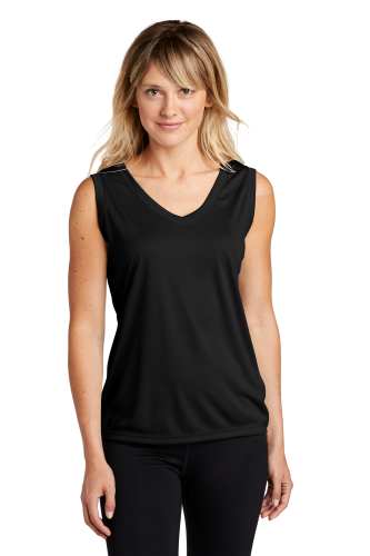 Sport-Tek Ladies Sleeveless Competitor V-Neck Tee