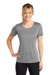 Vintage Hthr Sport-Tek Ladies Heather Contender Scoop Neck Tee as seen from the front
