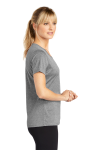 Vintage Hthr Sport-Tek Ladies Heather Contender Scoop Neck Tee as seen from the sleeveleft