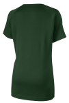 Forest Green Sport-Tek Ladies Ultimate Performance V-Neck as seen from the back
