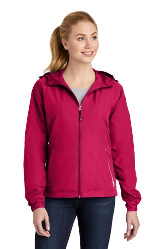 Sport-Tek Ladies Colorblock Hooded Jacket