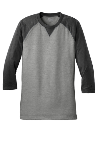 New Era Sueded Cotton 3/4-Sleeve Baseball Raglan Tee