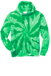 Kelly Port & Company Essential Tie-Dye Pullover Hooded Sweatshirt as seen from the front
