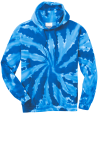 Royal Port & Company Essential Tie-Dye Pullover Hooded Sweatshirt as seen from the front