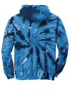 Navy Port & Company Youth Essential Tie-Dye Pullover Hooded Sweatshirt as seen from the back