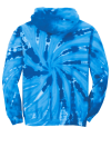 Royal Port & Company Youth Essential Tie-Dye Pullover Hooded Sweatshirt as seen from the back
