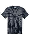 Black Port & Company Essential Tie-Dye Tee as seen from the front