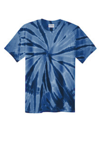 Navy Port & Company Essential Tie-Dye Tee as seen from the front