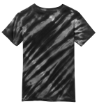 Black Port & Company Youth Essential Tiger Stripe Tie-Dye Tee as seen from the back