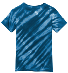 Navy Port & Company Youth Essential Tiger Stripe Tie-Dye Tee as seen from the back