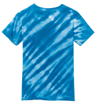 Royal Port & Company Youth Essential Tiger Stripe Tie-Dye Tee as seen from the back