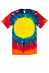 Rainbow Port & Company -Essential Window Tie-Dye Tee as seen from the front