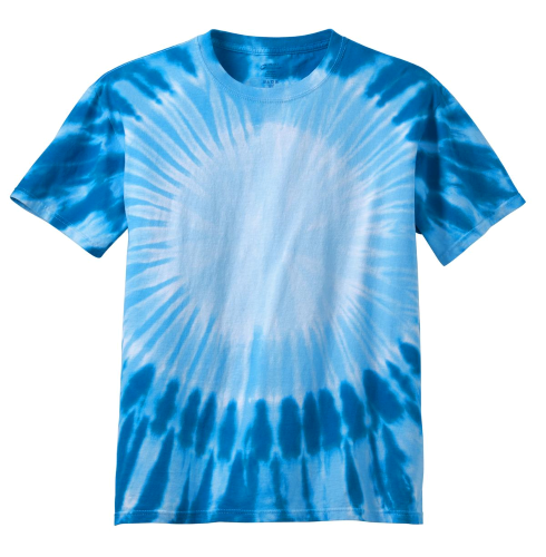 Royal Port & Company Youth Essential Window Tie-Dye Tee as seen from the front