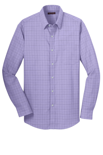 Red House Windowpane Plaid Non-Iron Shirt - Embroidered