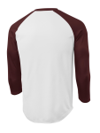 White Maroon Sport-Tek PosiCharge Baseball Jersey as seen from the back