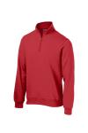 True Red Sport-Tek 1/4-Zip Sweatshirt as seen from the front