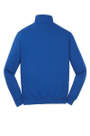 True Royal Sport-Tek 1/4-Zip Sweatshirt as seen from the back