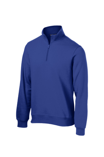 True Royal Sport-Tek 1/4-Zip Sweatshirt as seen from the front
