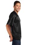 Black Sport-Tek PosiCharge ™ Replica Jersey as seen from the sleeveleft