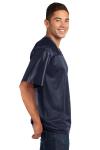 True Navy Sport-Tek PosiCharge ™ Replica Jersey as seen from the sleeveleft