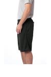 Black Sport-Tek PosiCharge Tough Mesh Pocket Short as seen from the sleeveleft