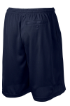 True Navy Sport-Tek PosiCharge Tough Mesh Pocket Short as seen from the back