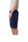 True Navy Sport-Tek PosiCharge Tough Mesh Pocket Short as seen from the sleeveleft