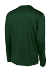 Forest Green Sport-Tek Long Sleeve Competitor Tee as seen from the back