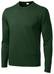 Forest Green Sport-Tek Long Sleeve Competitor Tee as seen from the front