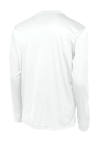 White Sport-Tek Long Sleeve Competitor Tee as seen from the back