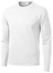White Sport-Tek Long Sleeve Competitor Tee as seen from the front