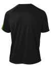 Black Lime Shk Sport-Tek Colorblock Competitor Tee as seen from the back